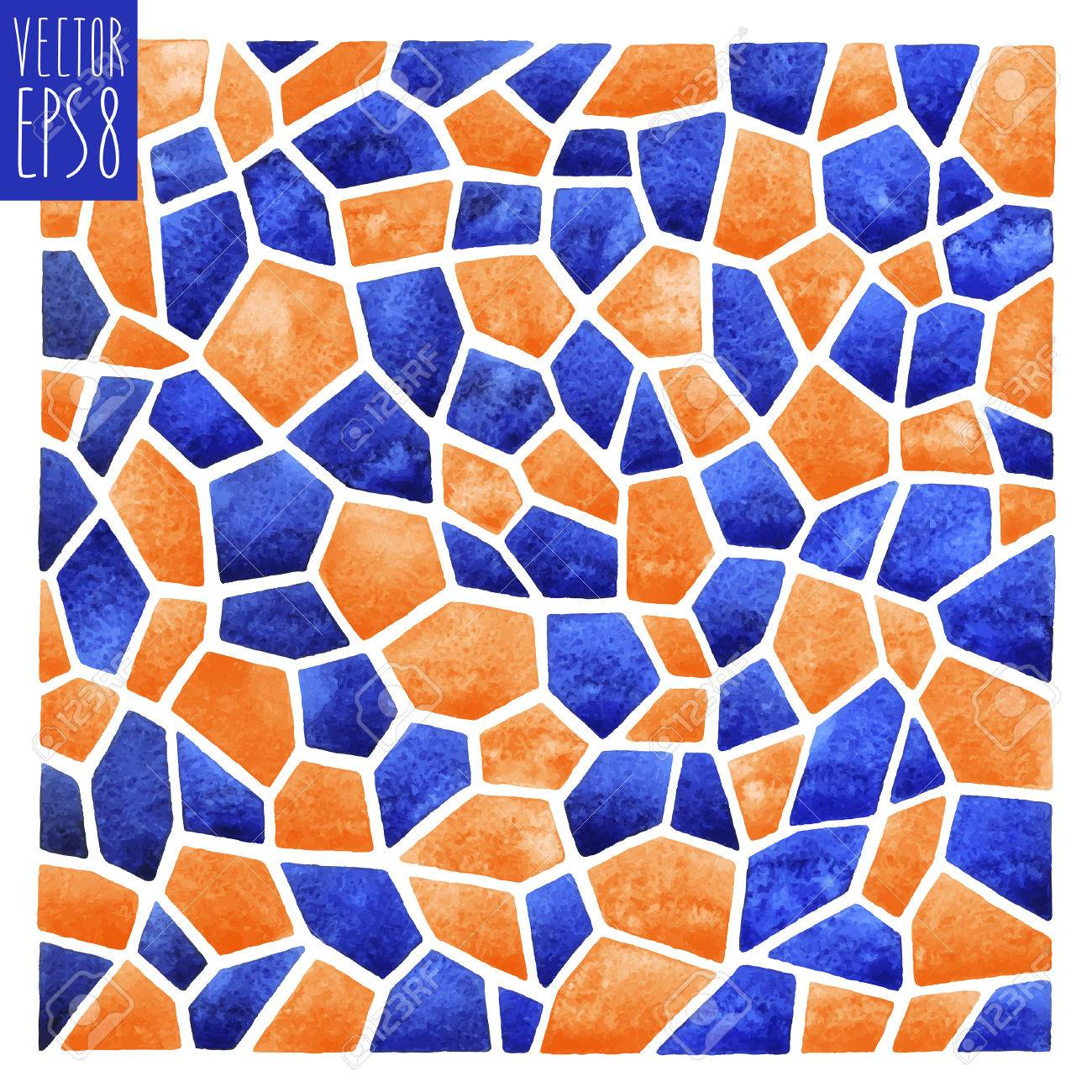 Abstract Vector Square Watercolor Background. Polygonal Mosaic ...