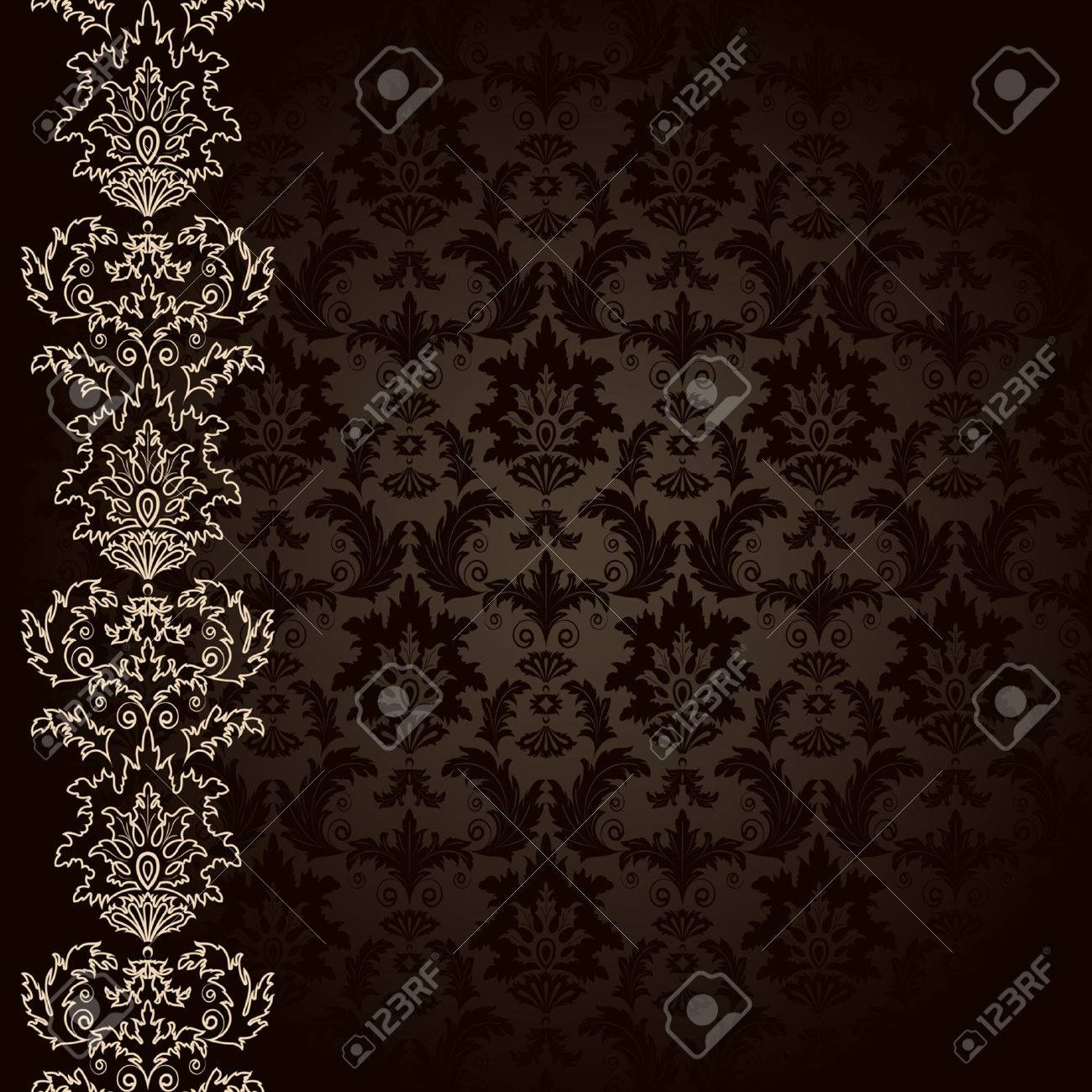 Background with brown flowers and leaves Stock Vector - 5707253