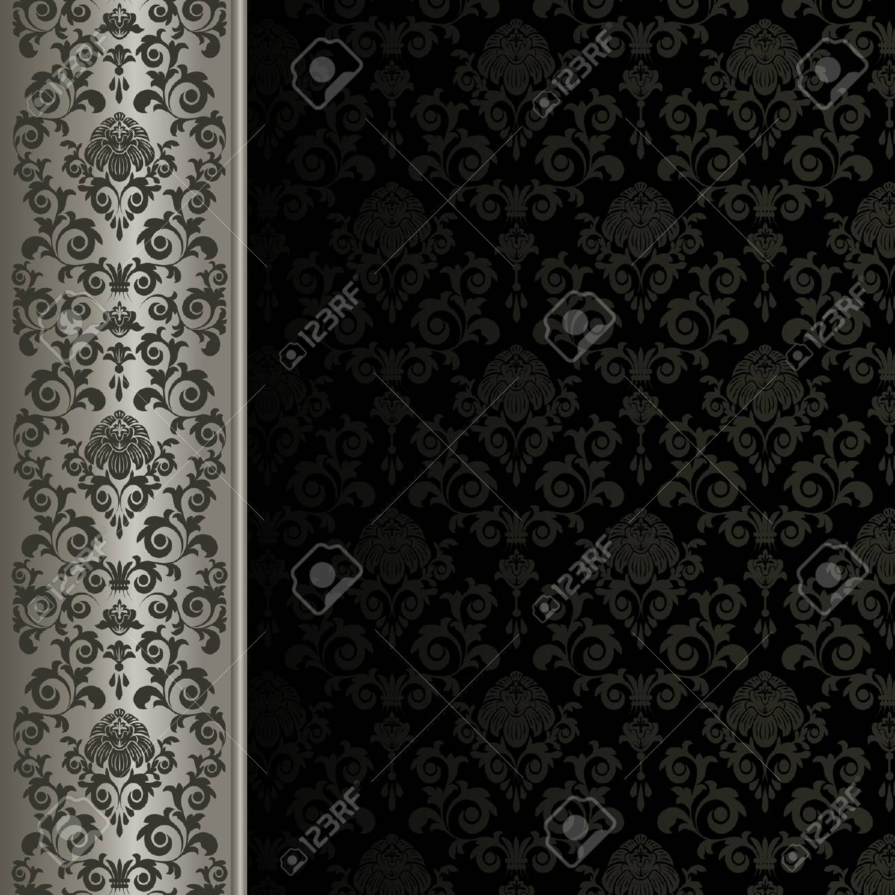 Background with gray flowers and leaves Stock Vector - 6243670