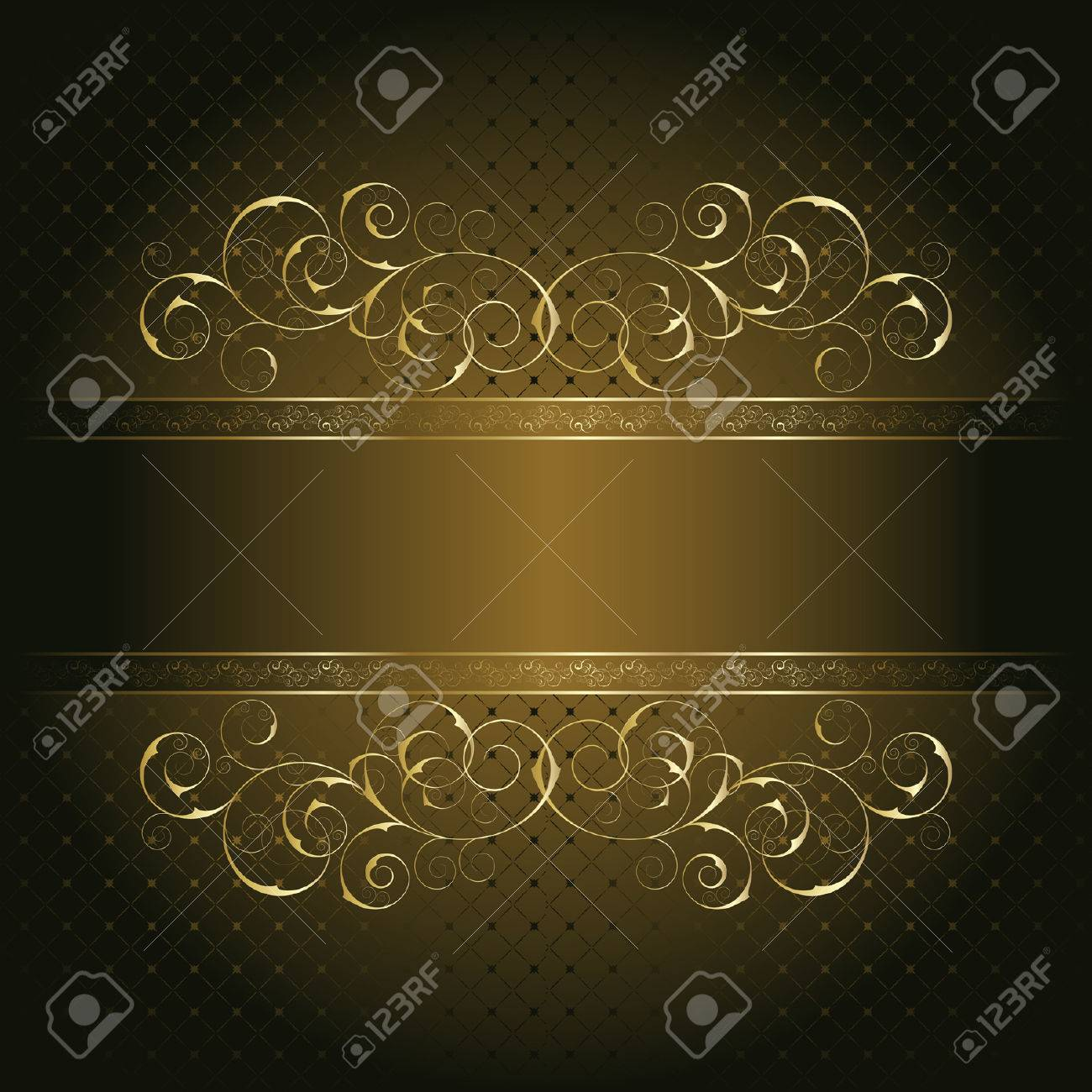 Retro frame on the brown floral background Stock Vector - 8105516
