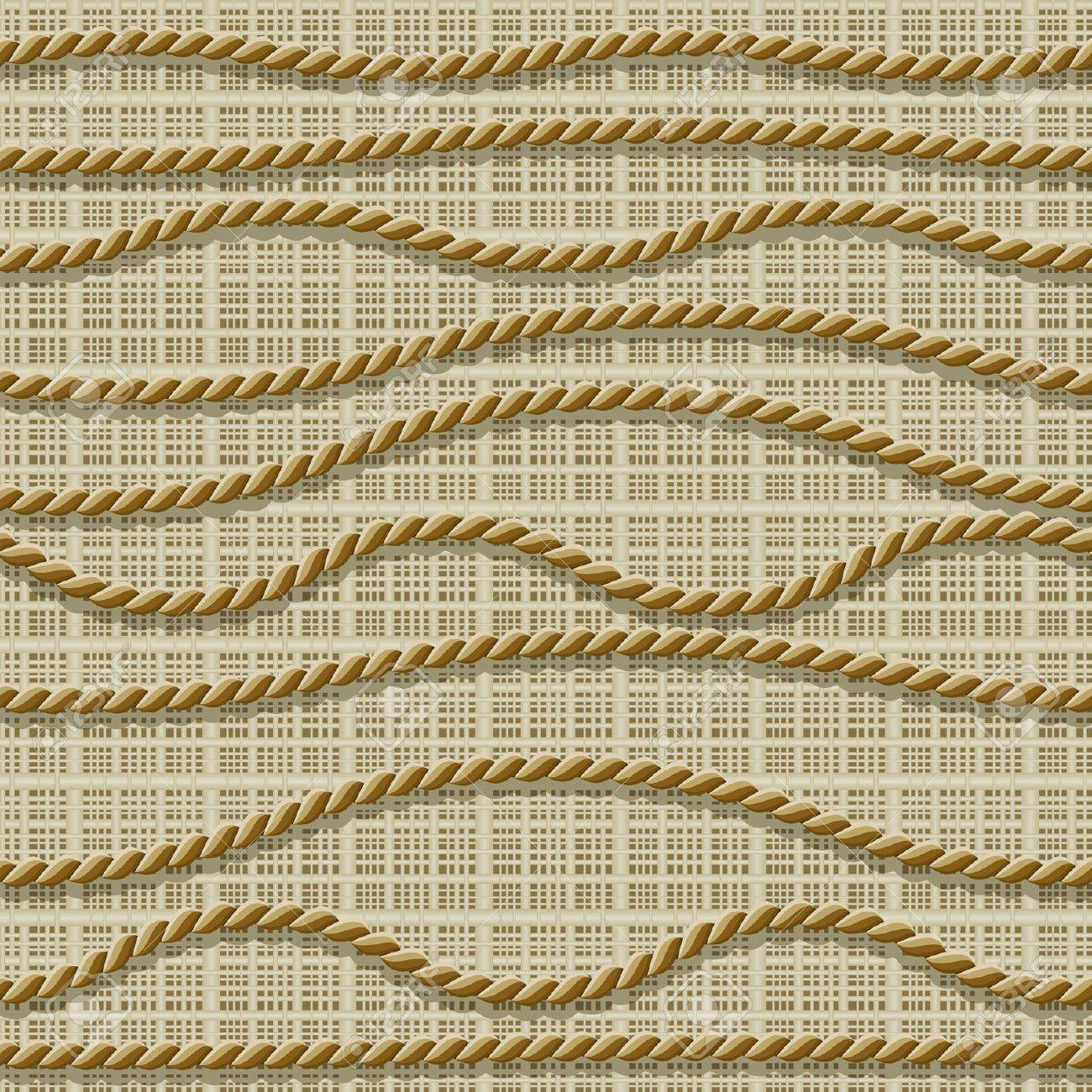 Seamless from ropes and matting (can be repeated and scaled in any size) Stock Vector - 9567694