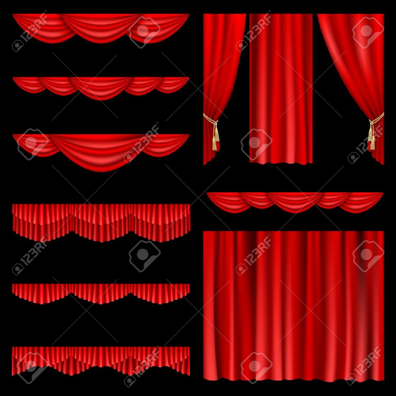 Black theatre curtain - Theatre Curtain Set Of Red Curtains To Theater Stage Mesh