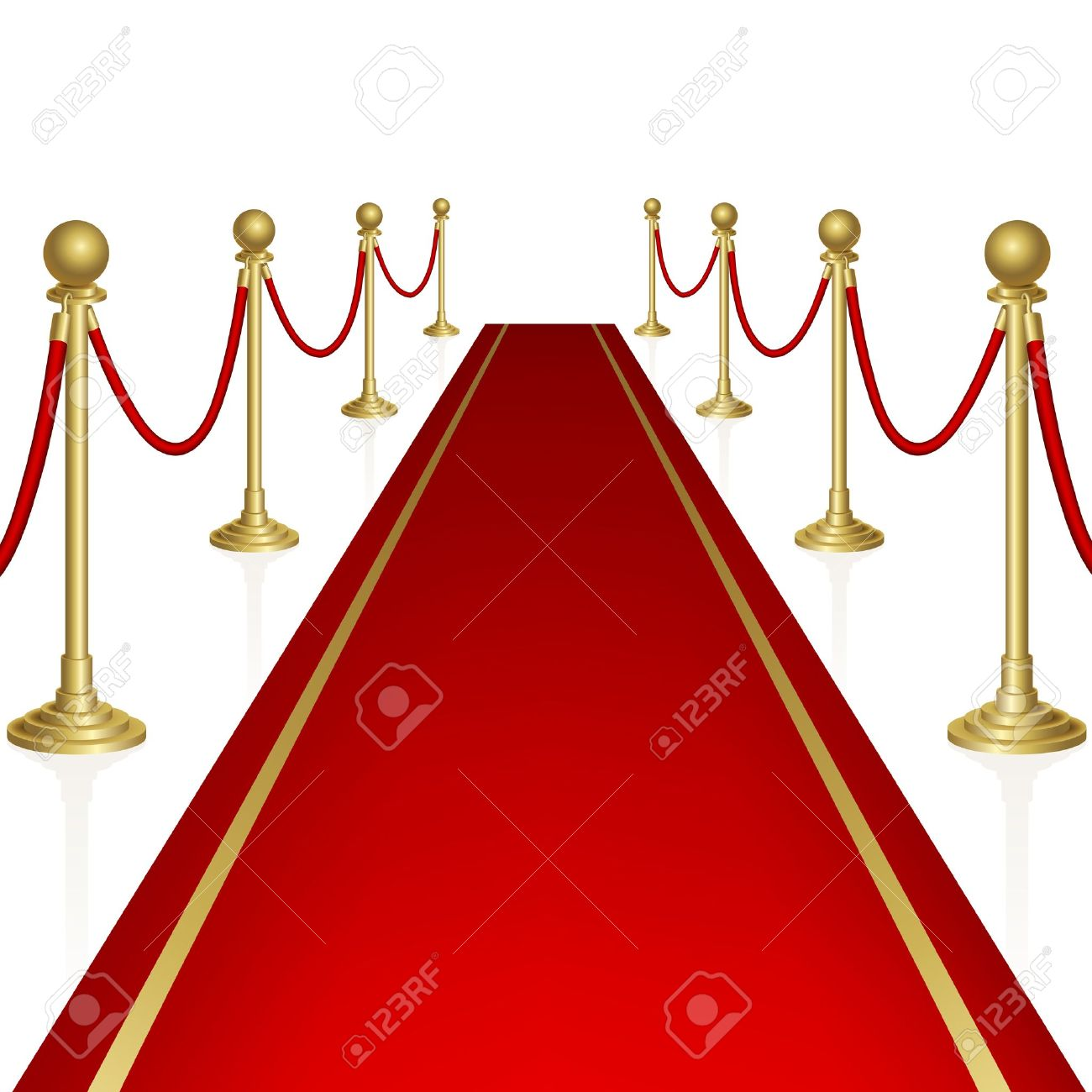 Red carpet with guard. - 16583436