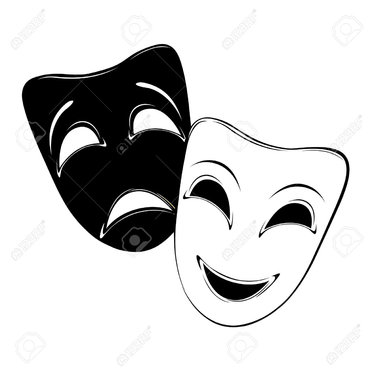 Theatrical mask on a white background - 17900247