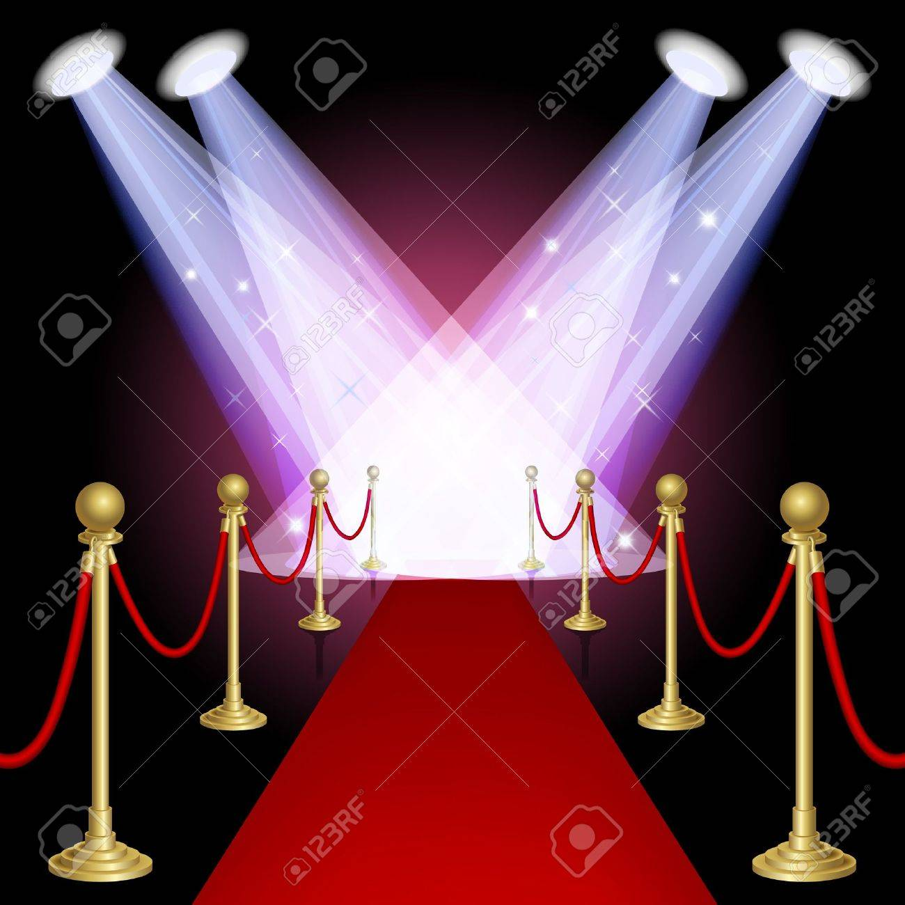 Red carpet with spotlight Mesh This file contains transparency EPS10 - 18169257