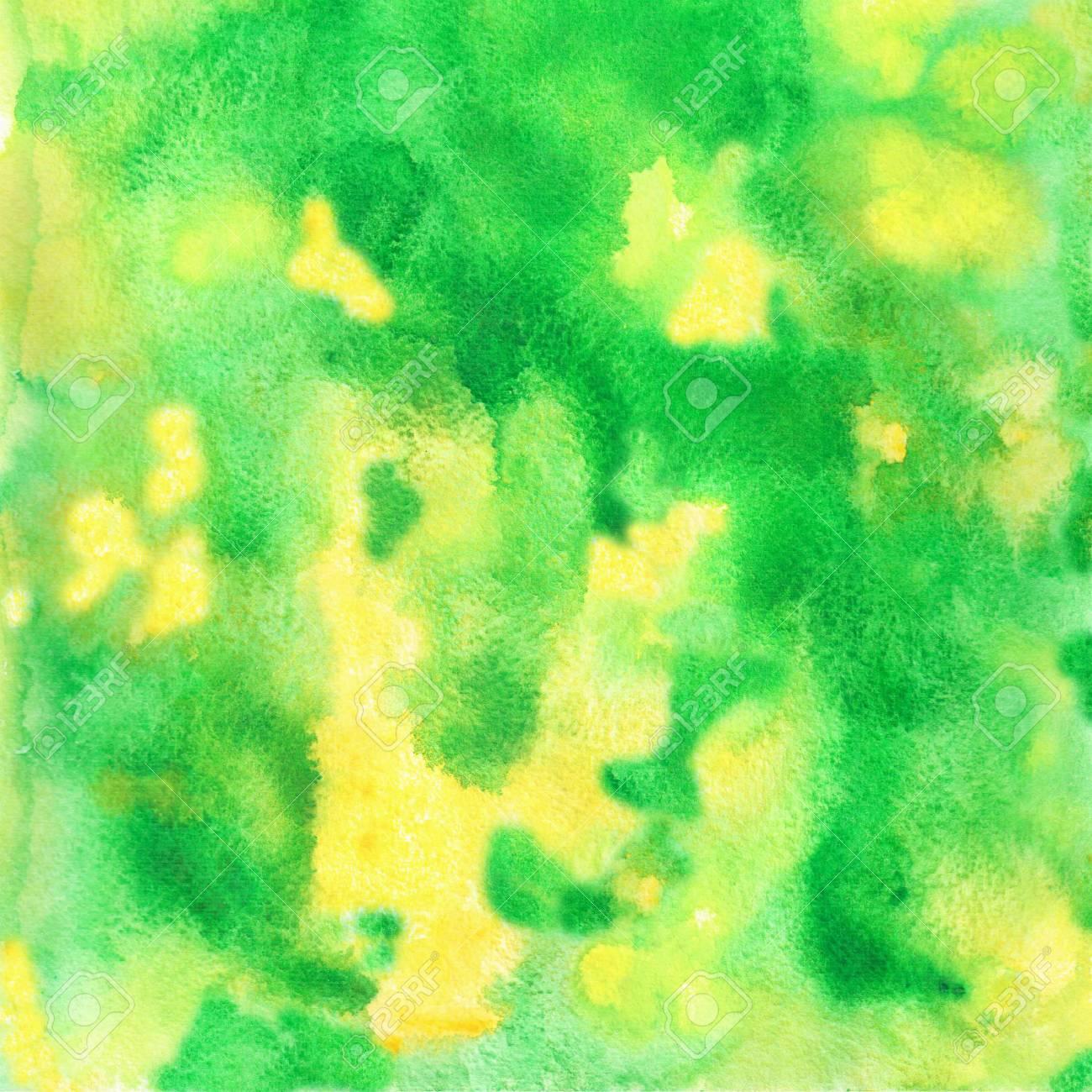 Immagini Stock Lo Sfondo Verde Giallo Verde è Disegnato In