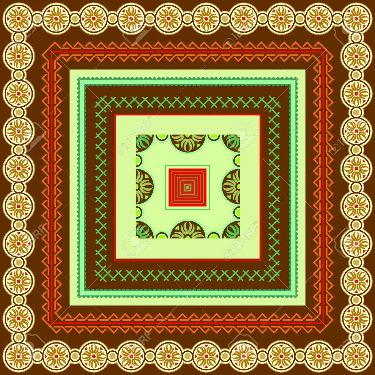 Various motifs of borders and frames for design Stock Vector - 13778128