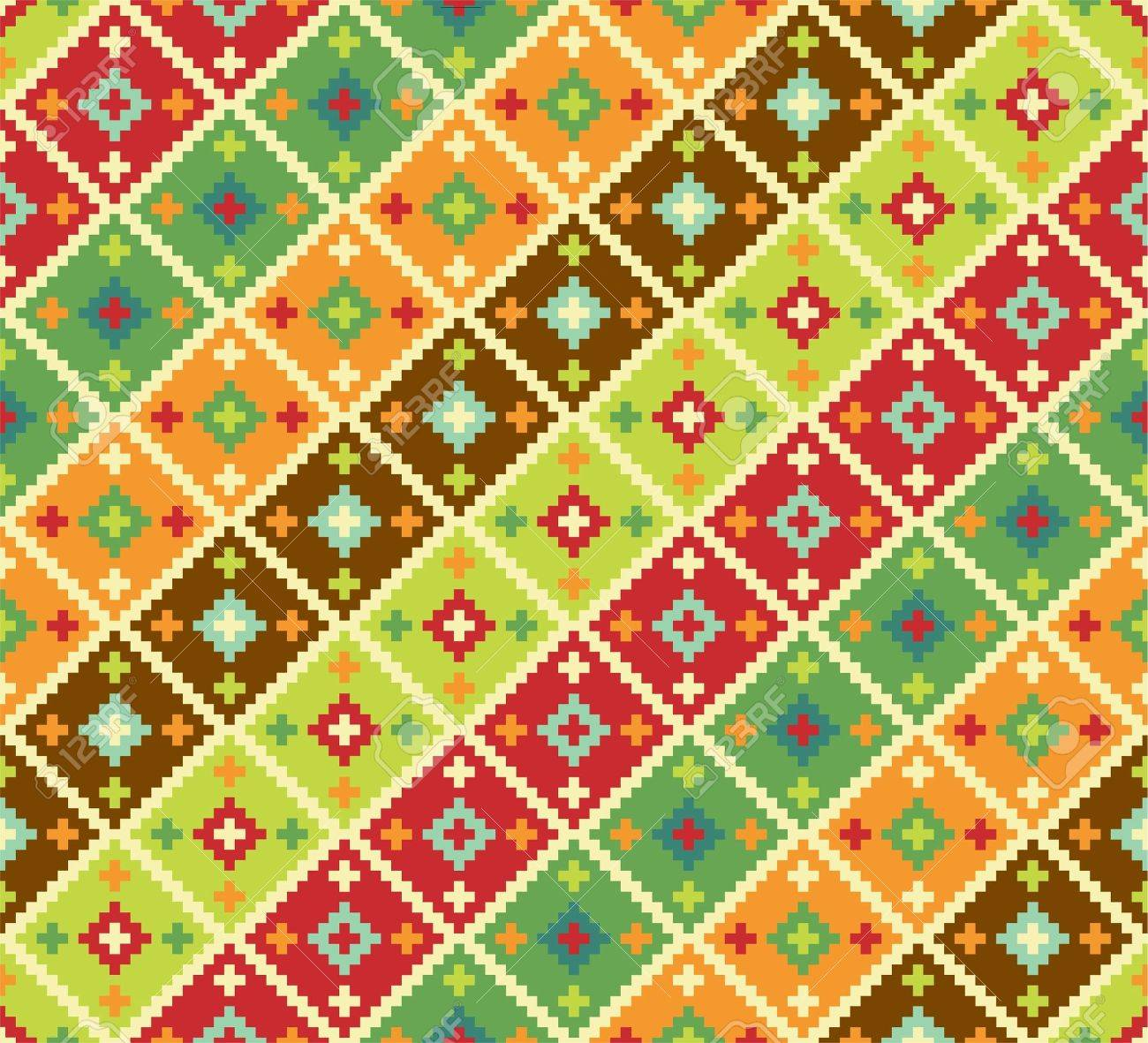 Background with ethnic motifs. Seamless pattern Stock Vector - 14150928