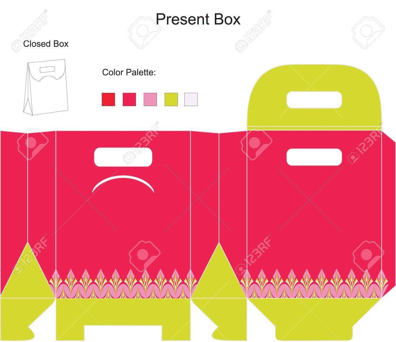 template present box for baby girl shower royalty cliparts template present box for baby girl shower stock vector 14151264