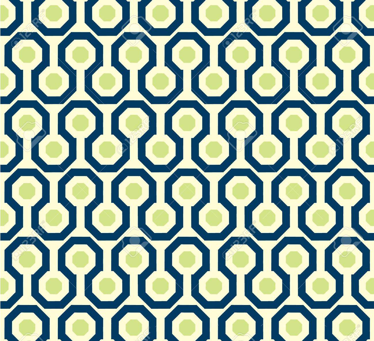 Zig zag pattern in green and blue  Seamless vector illustration Stock Vector - 15065109