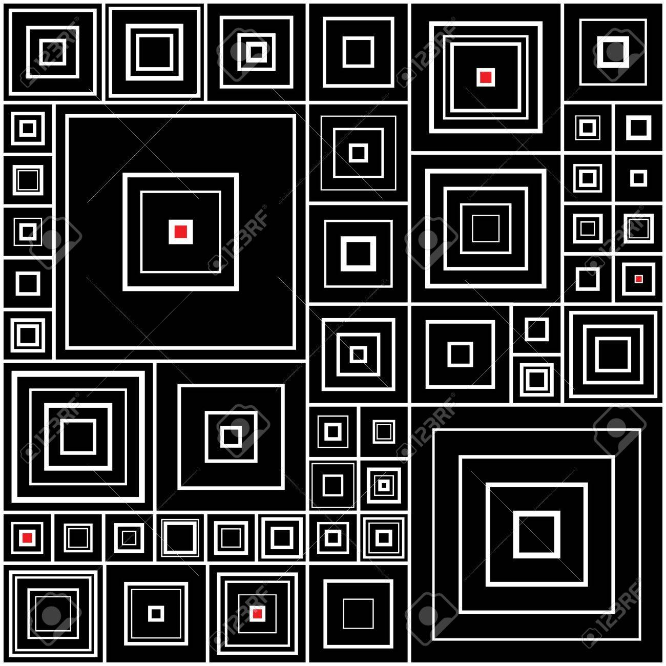 Pattern in black and white with red accents Stock Vector - 16308089