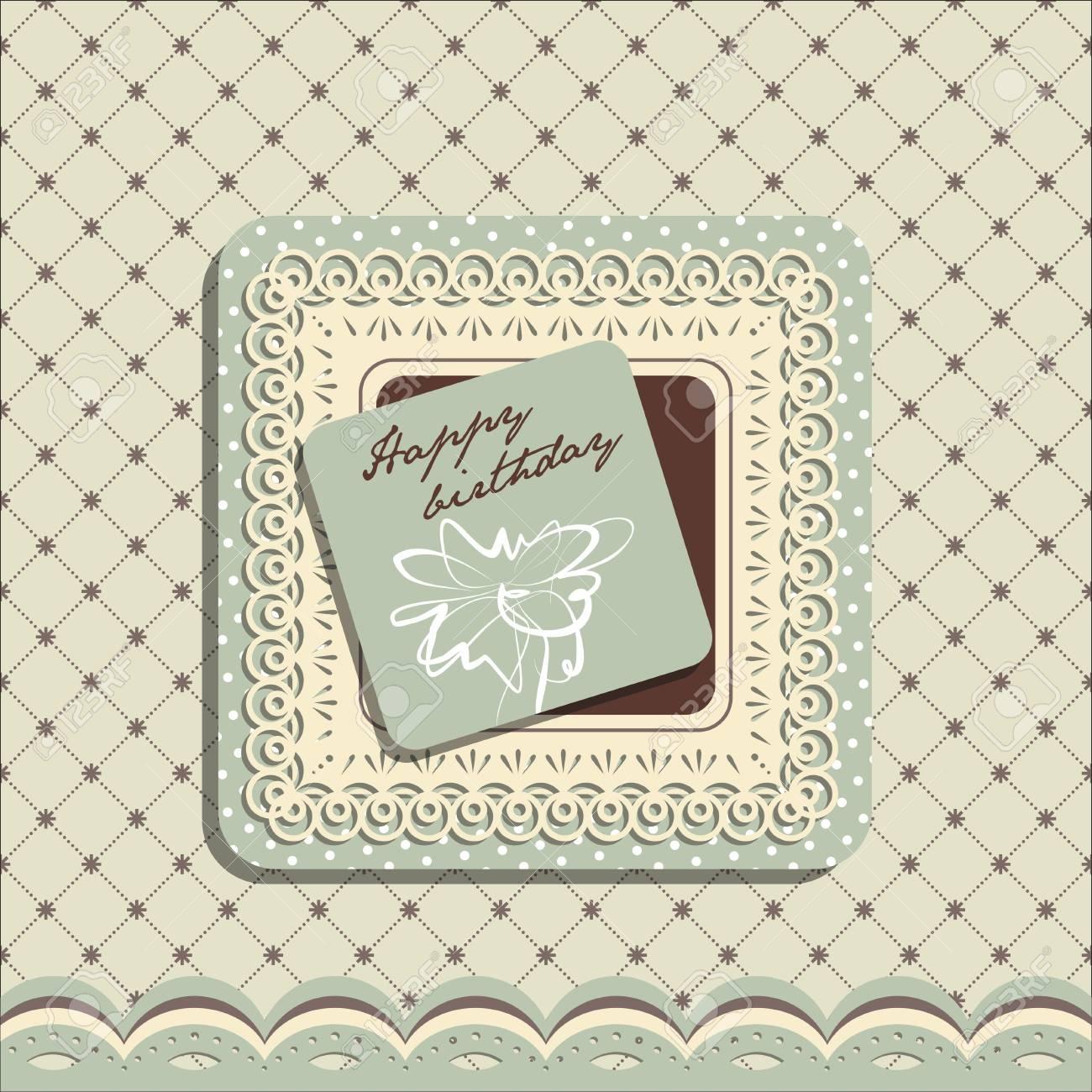 Happy Birthday greeting card Stock Vector - 17728519