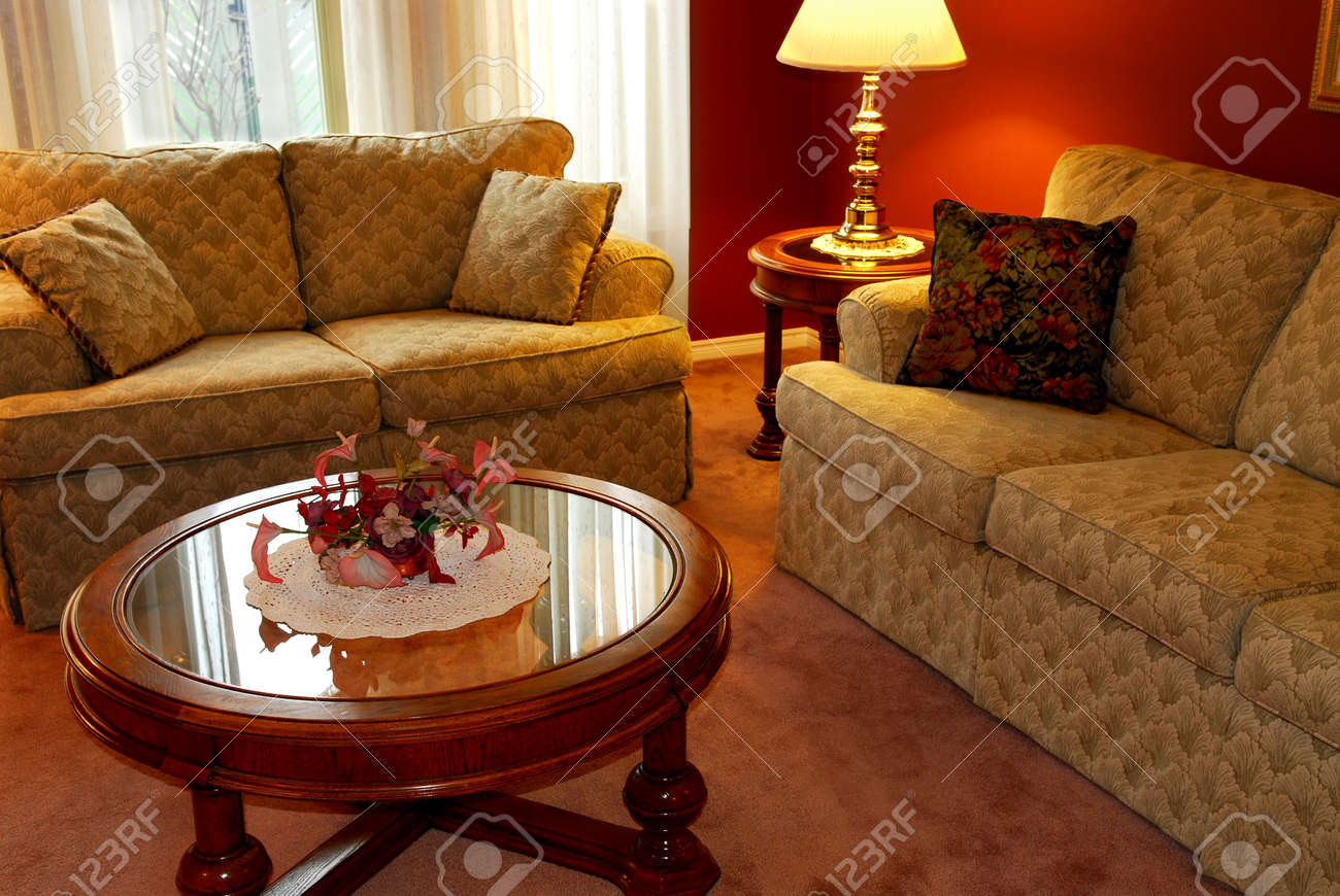 Interior of a cozy living room with sofas and coffee table Stock Photo - 895940