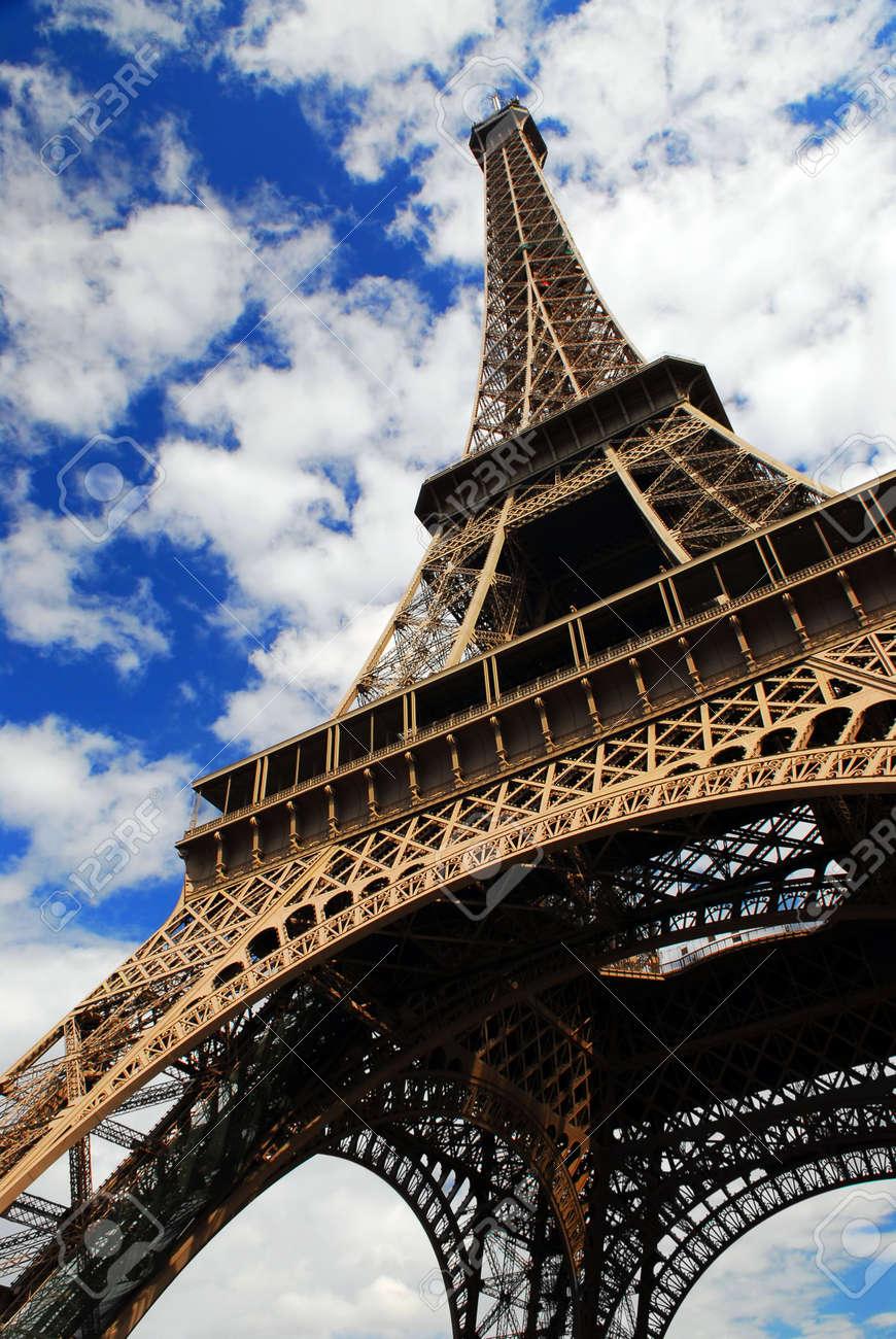 Eiffel tower on blue sky background. Paris, France. Stock Photo - 1305176