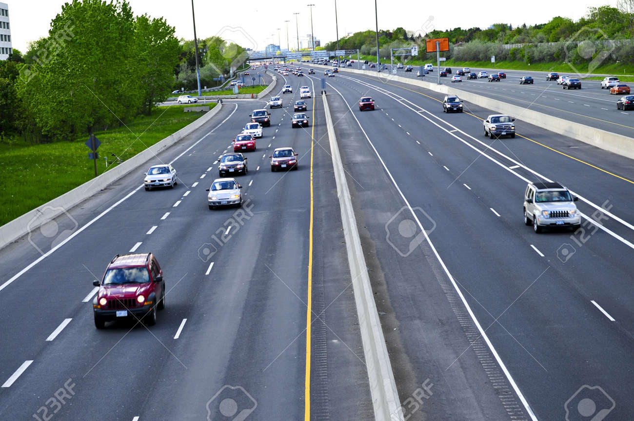 Busy multi-lane highway in a big city Stock Photo - 3213997