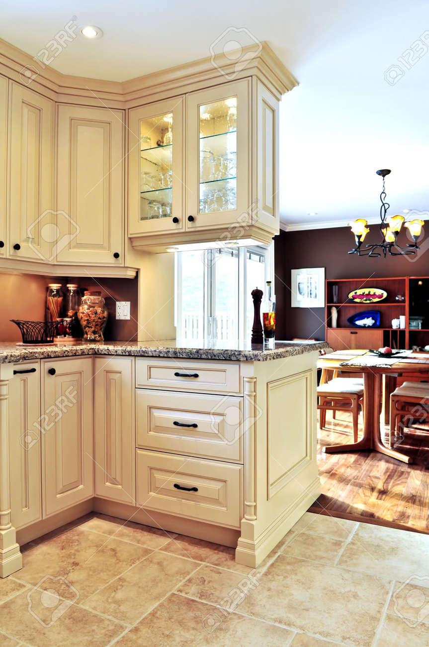 Modern luxury kitchen and dining room interior Stock Photo   3930807. Modern Luxury Kitchen And Dining Room Interior Stock Photo