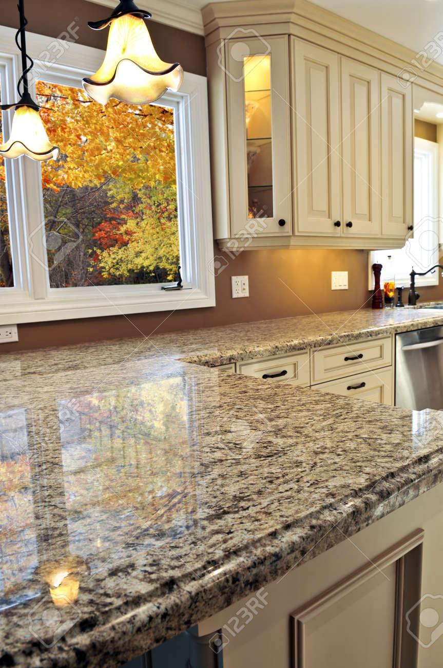Modern Luxury Kitchen With Granite Countertop Amusing Modern Luxury Kitchen Interior With Granite Countertop Stock Photo . 2017