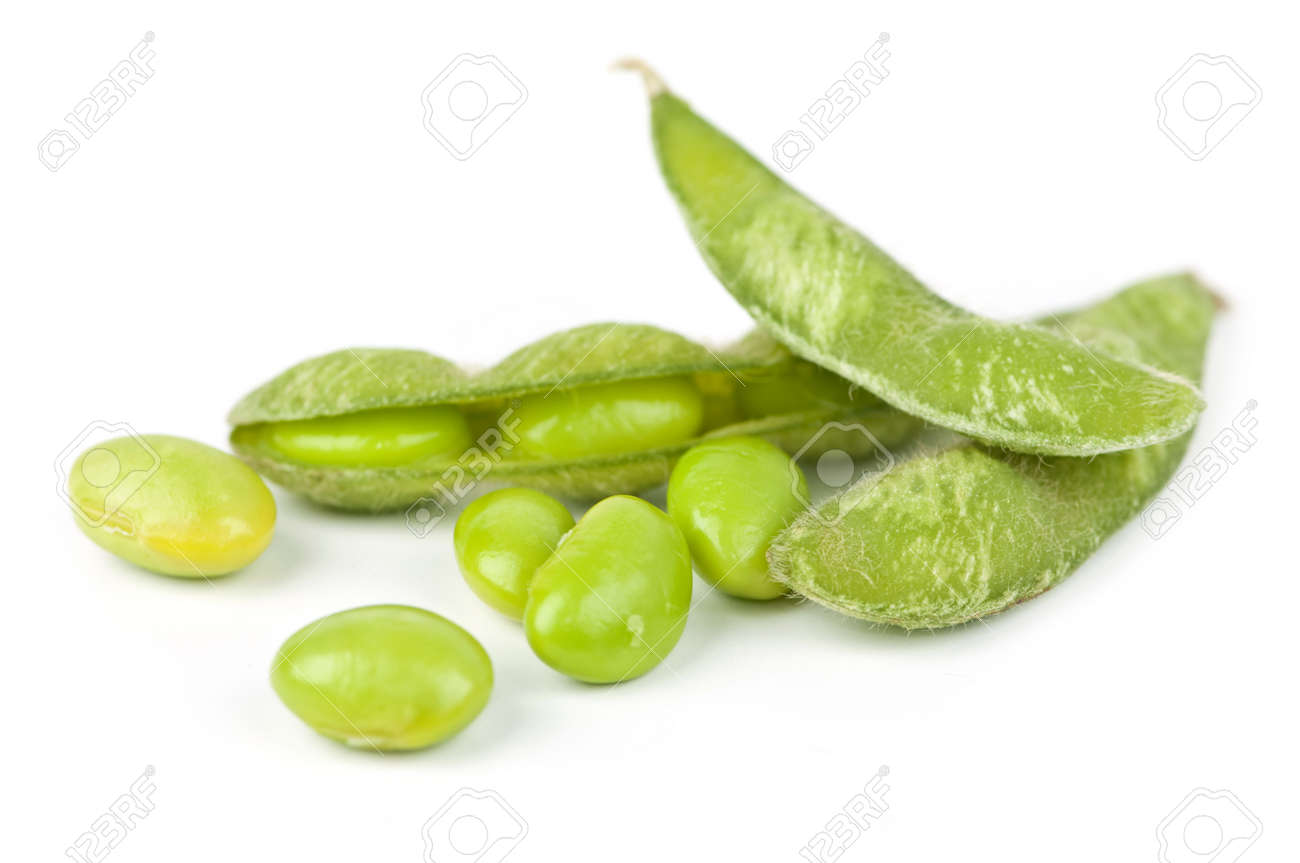 Edamame soy beans shelled and with pods - 4710505