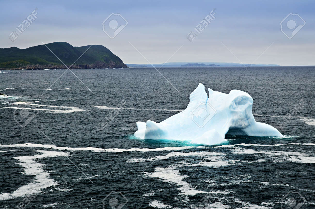 Melting iceberg off the coast of Newfoundland, Canada Stock Photo - 6020773