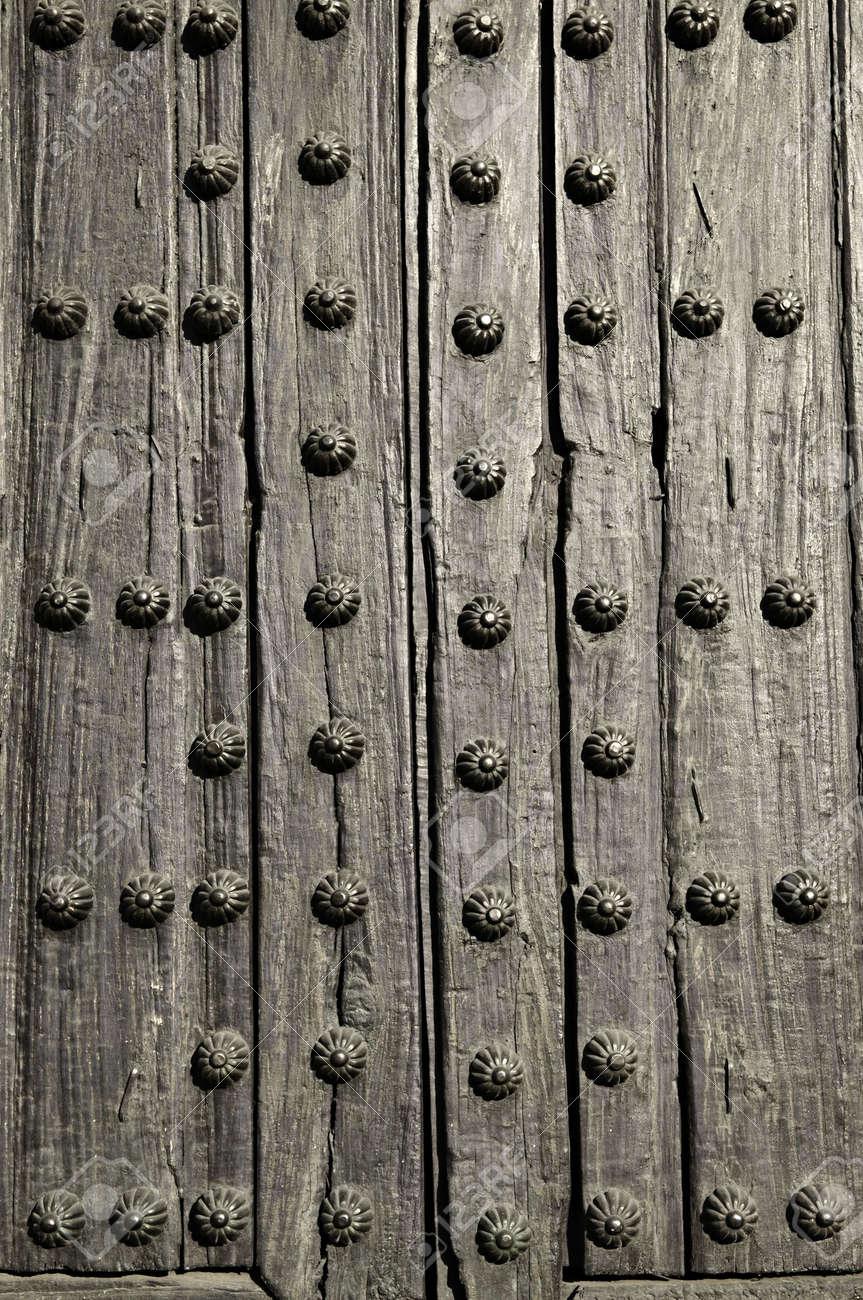 Background of old wooden door with metal studs Stock Photo - 6526963 & Background Of Old Wooden Door With Metal Studs Stock Photo Picture ...