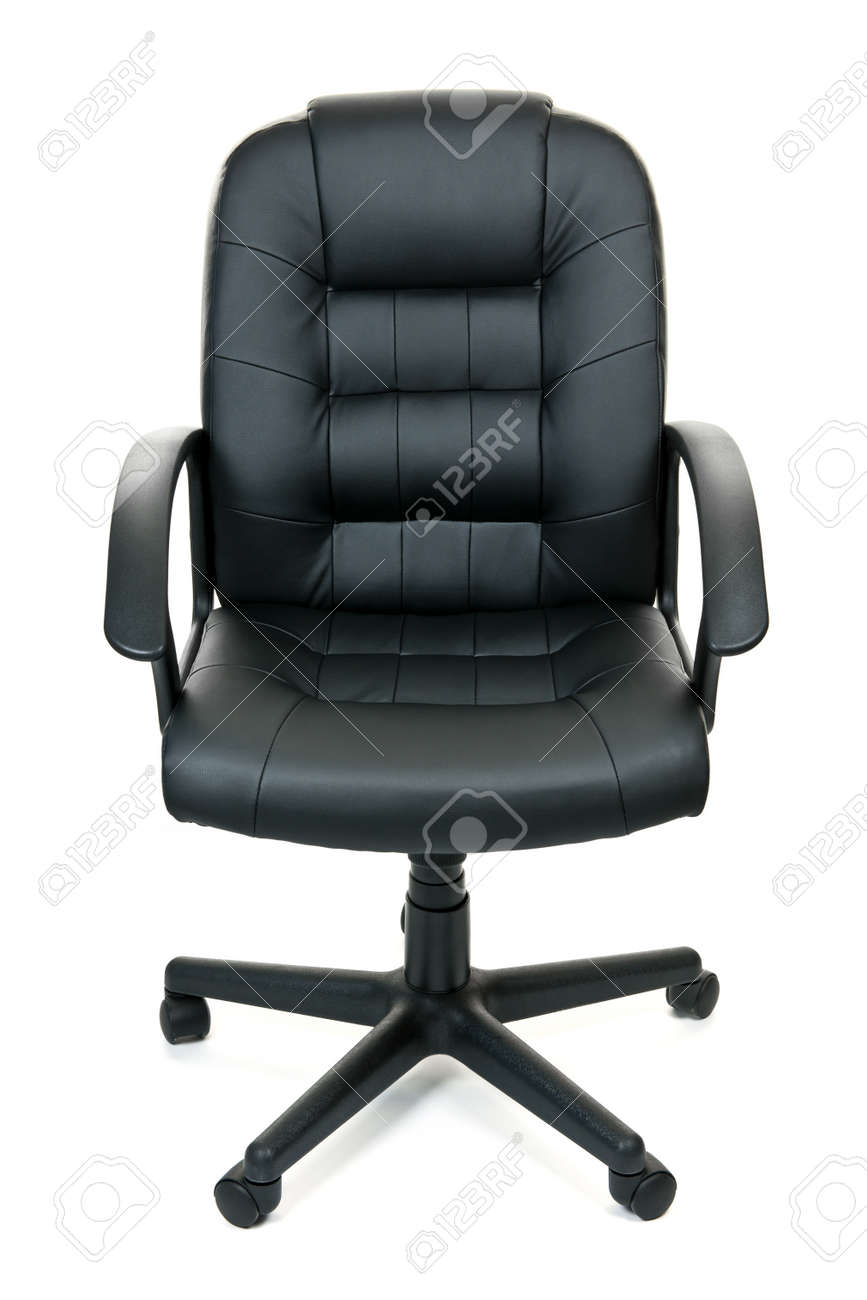 Picture of: Black Leather Managers Office Swivel Chair Isolated On White Stock Photo Picture And Royalty Free Image Image 9240576