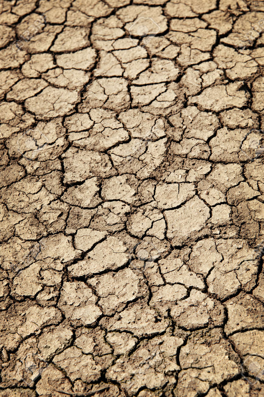 Background of dry cracked soil dirt or earth during drought Stock Photo - 9794281
