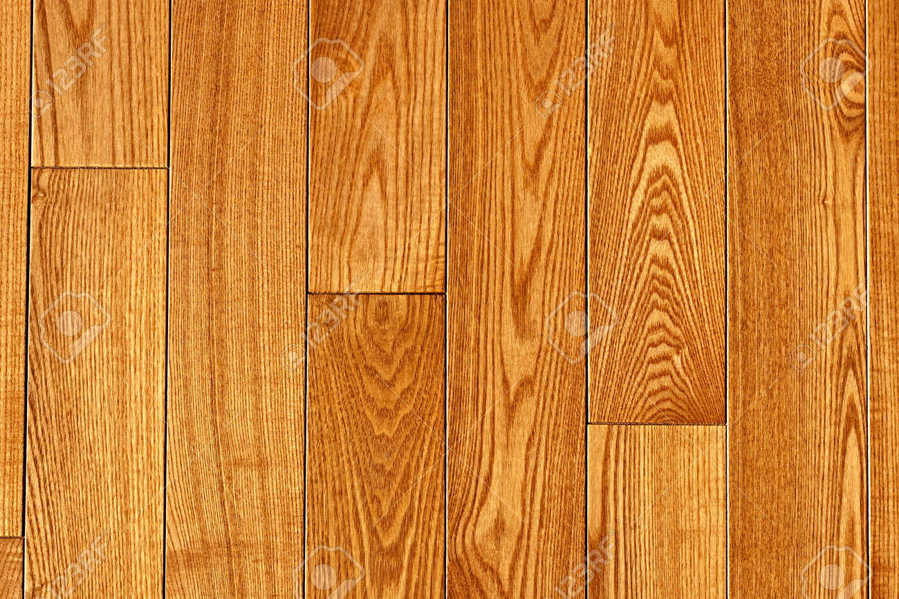Hardwood oak floor boards view from above background Stock Photo - 11930071