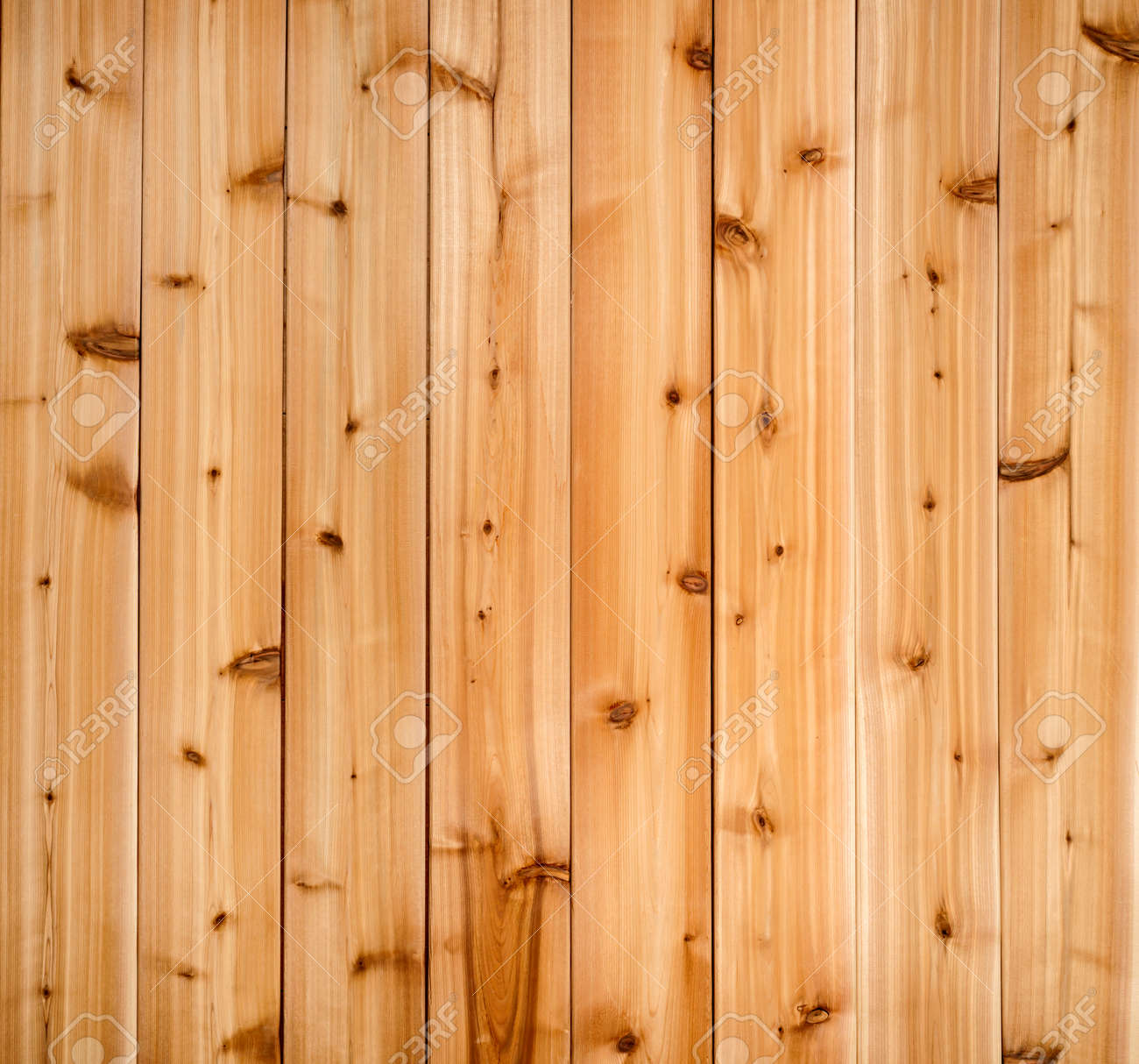 Background of wooden red cedar planks showing woodgrain texture - 29611451