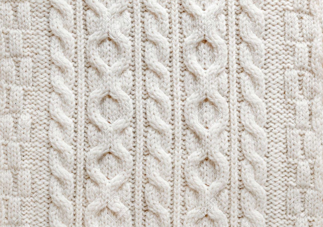 Textura Del Knit De La Luz De Lana Tejido De Punto Natural Con ...