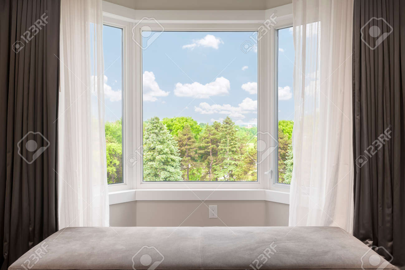 for white windows home with office comfy curtain bay drapes adorable in rods decorated perfect homesfeed gorgeous chairs ideas curtains