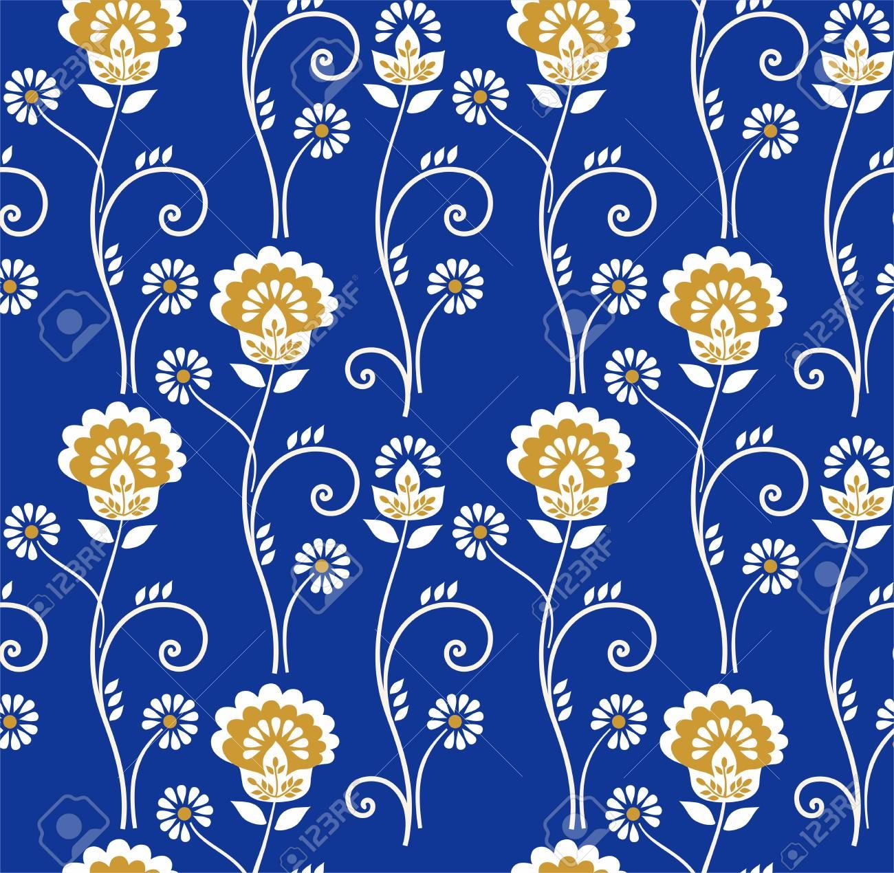 Vettoriale Floral Pattern Senza Soluzione Di Continuità Fiori D