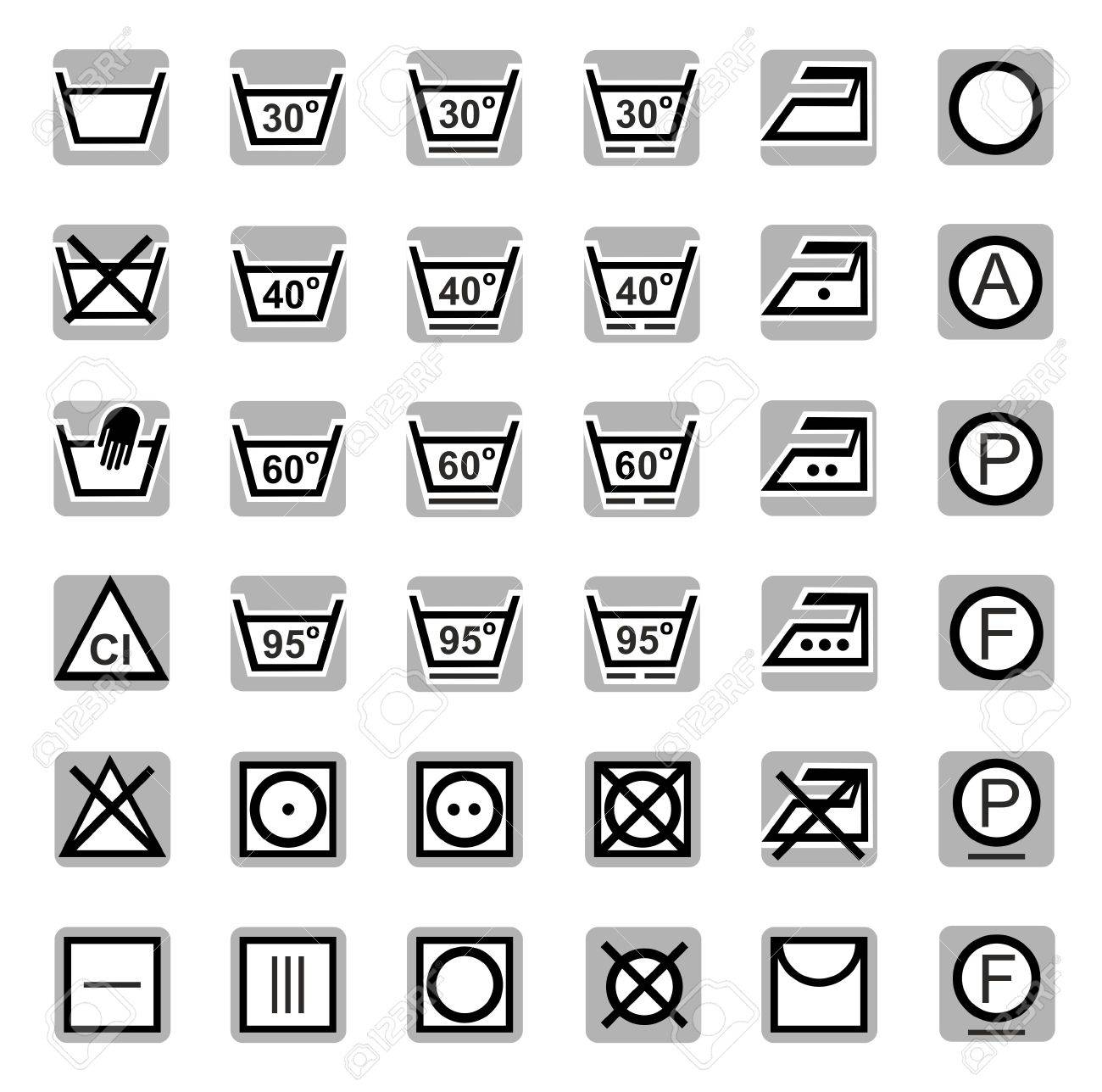 Icons washing bleaching drying ironing dry cleaning gray black icons washing bleaching drying ironing dry cleaning gray black biocorpaavc Image collections