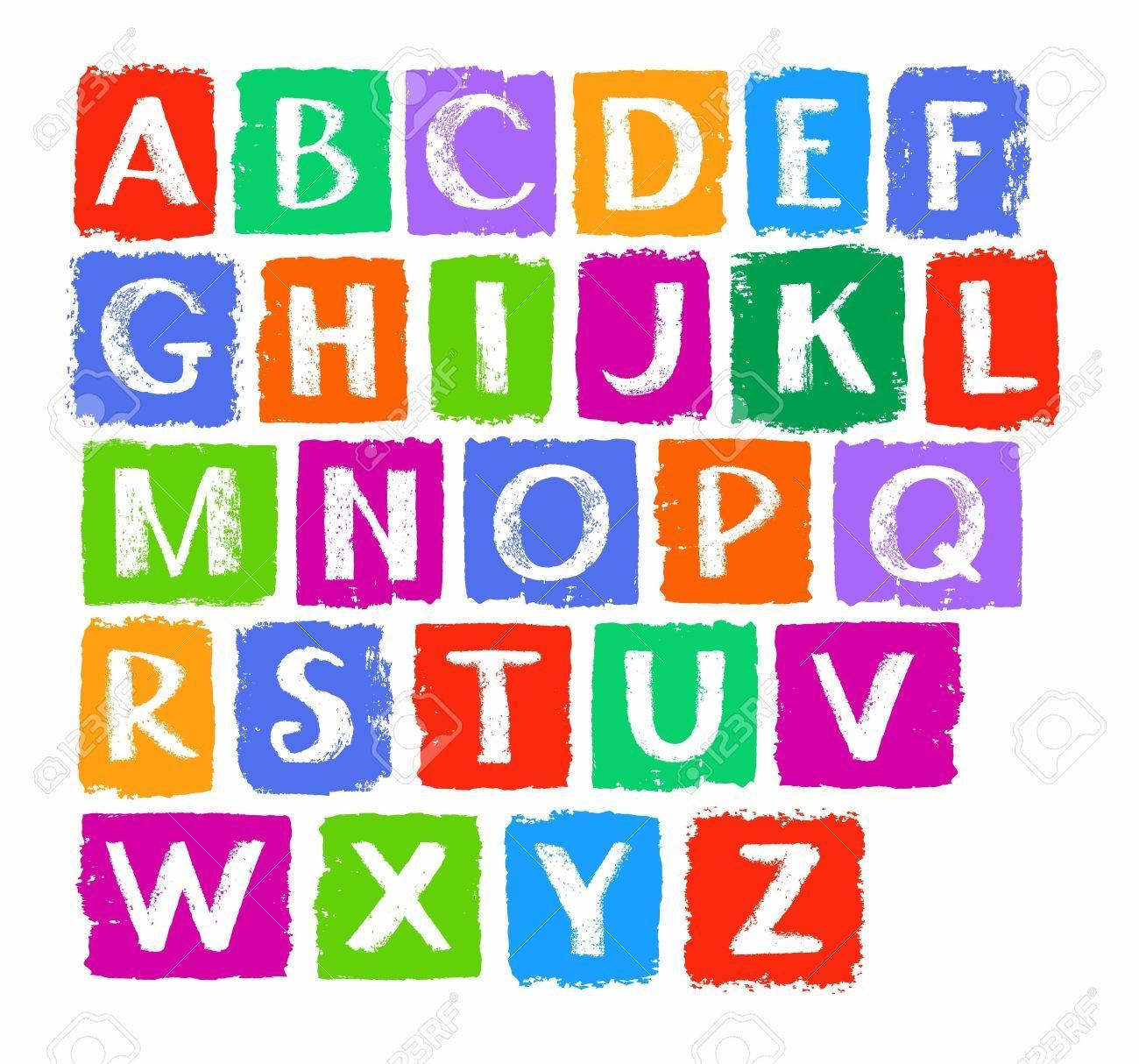 Las Letras May Sculas Del Alfabeto Ingl S Tiza Tizas De Colores  -> Sala En Ingles Dibujo