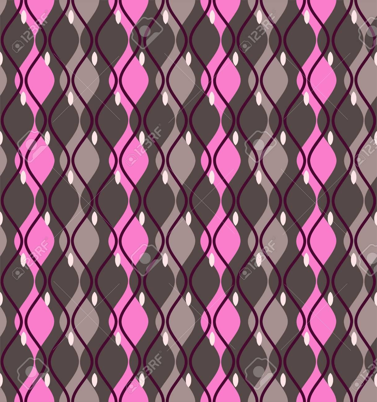 Curve Astratto Senza Soluzione Di Continuità Grigio Scuro Diamanti Rosa E Grigio Verticali Con Angoli Arrotondati Su Un Campo Grigio Scuro
