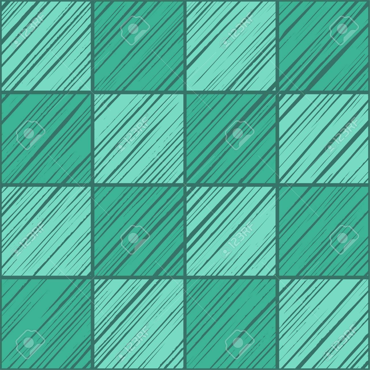 Couleur Vert Emeraude Foncé carrelage carré, fond transparent, vert émeraude, vecteur. les carrés  ombrés sur le vert émeraude diagonale sur le champ vert foncé. texture du  bois,