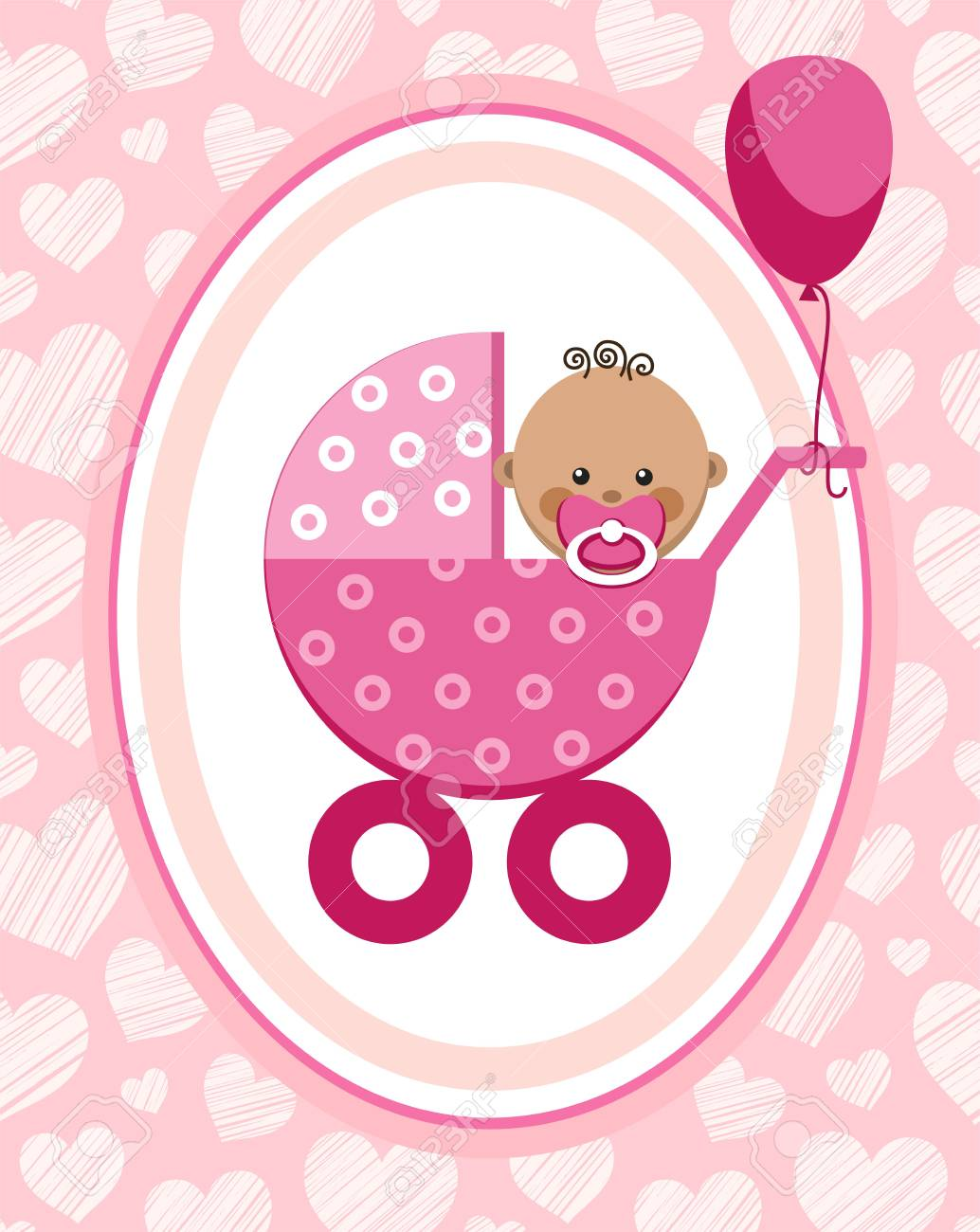 Newborn baby girl greeting card africa pink hearts vector newborn baby girl greeting card africa pink hearts vector a kristyandbryce Images