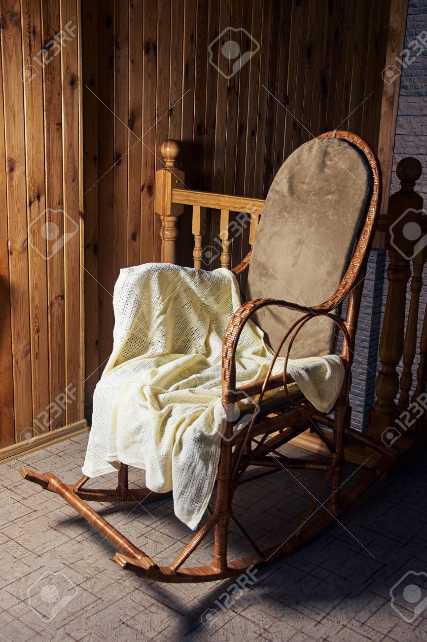 Picture of: Big Rocking Chair Wooden Walls Cozy Place Stock Photo Picture And Royalty Free Image Image 98724178