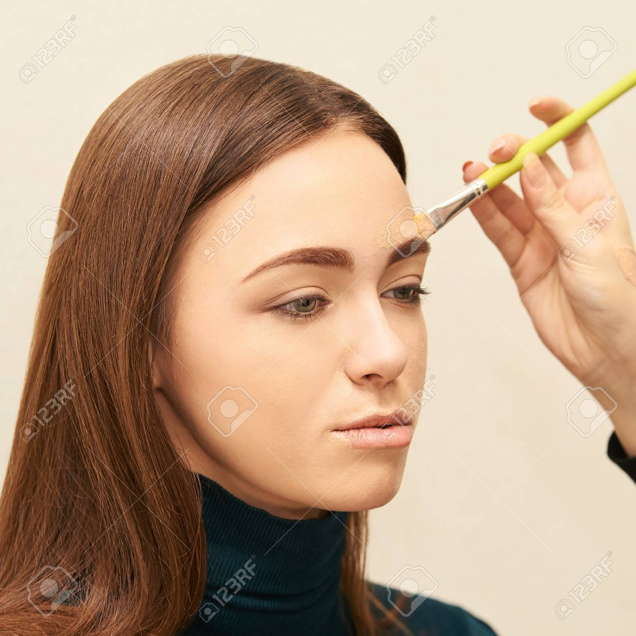 Makeup Professional Artist Apply Face Mascara Woman Beauty Model Stock Photo Picture And Royalty Free Image Image 114856615