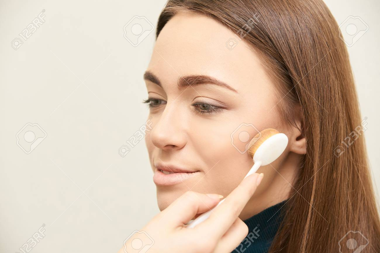 Makeup Professional Artist Apply Face Mascara Woman Beauty Model Stock Photo Picture And Royalty Free Image Image 114856994