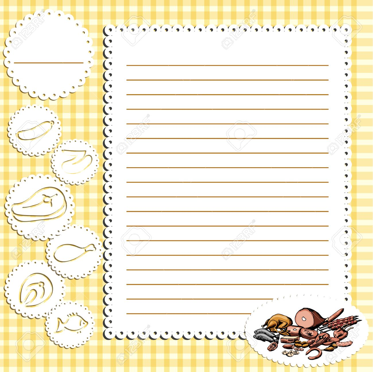 Cookbook Background, Can Be Used For Cooking, Bakery And Food ...