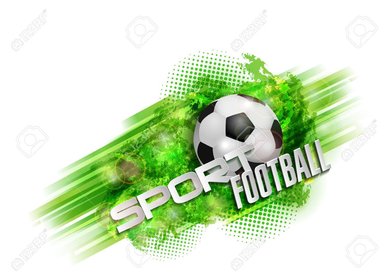 Design Sports Football Banner Ball Text Royalty Free Cliparts