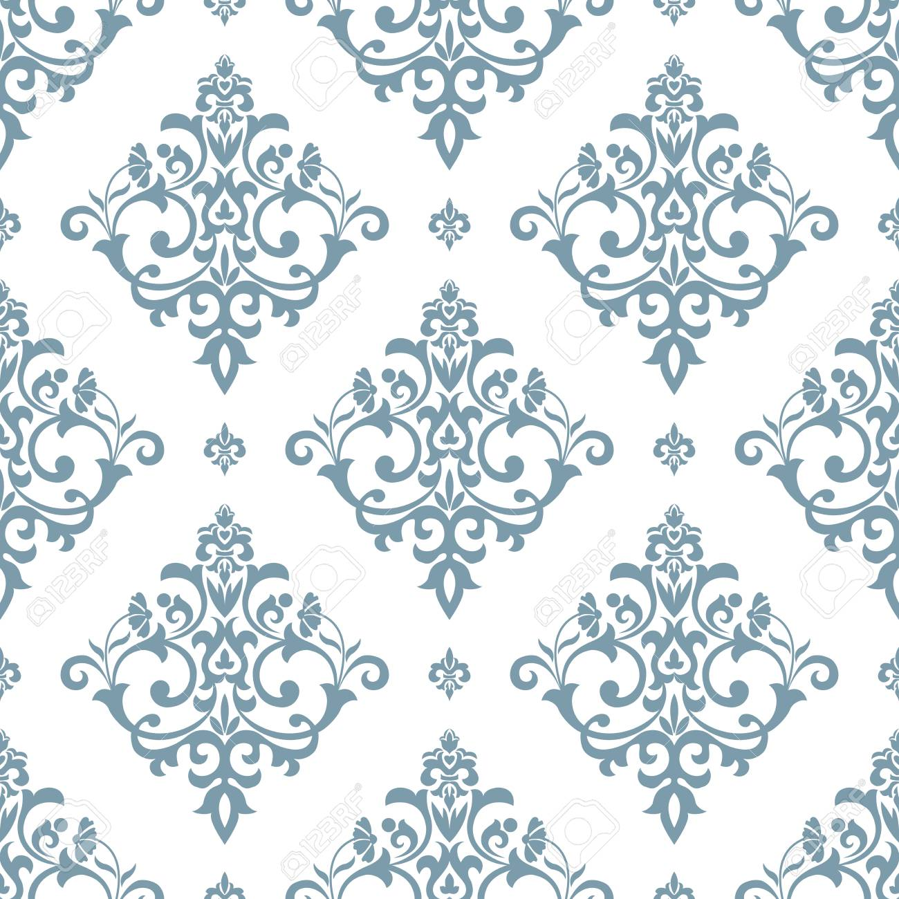 Floral Pattern Wallpaper Baroque Damask Seamless Vector Background Royalty Free Cliparts Vectors And Stock Illustration Image 94383791
