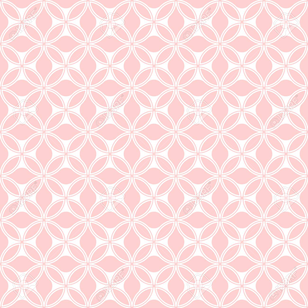 Floral pattern. Wallpaper seamless vector background. Pink and white ornament. Graphic modern pattern