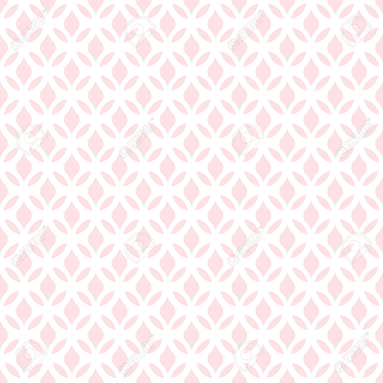 Floral Pattern Wallpaper Seamless Vector Background Pink And