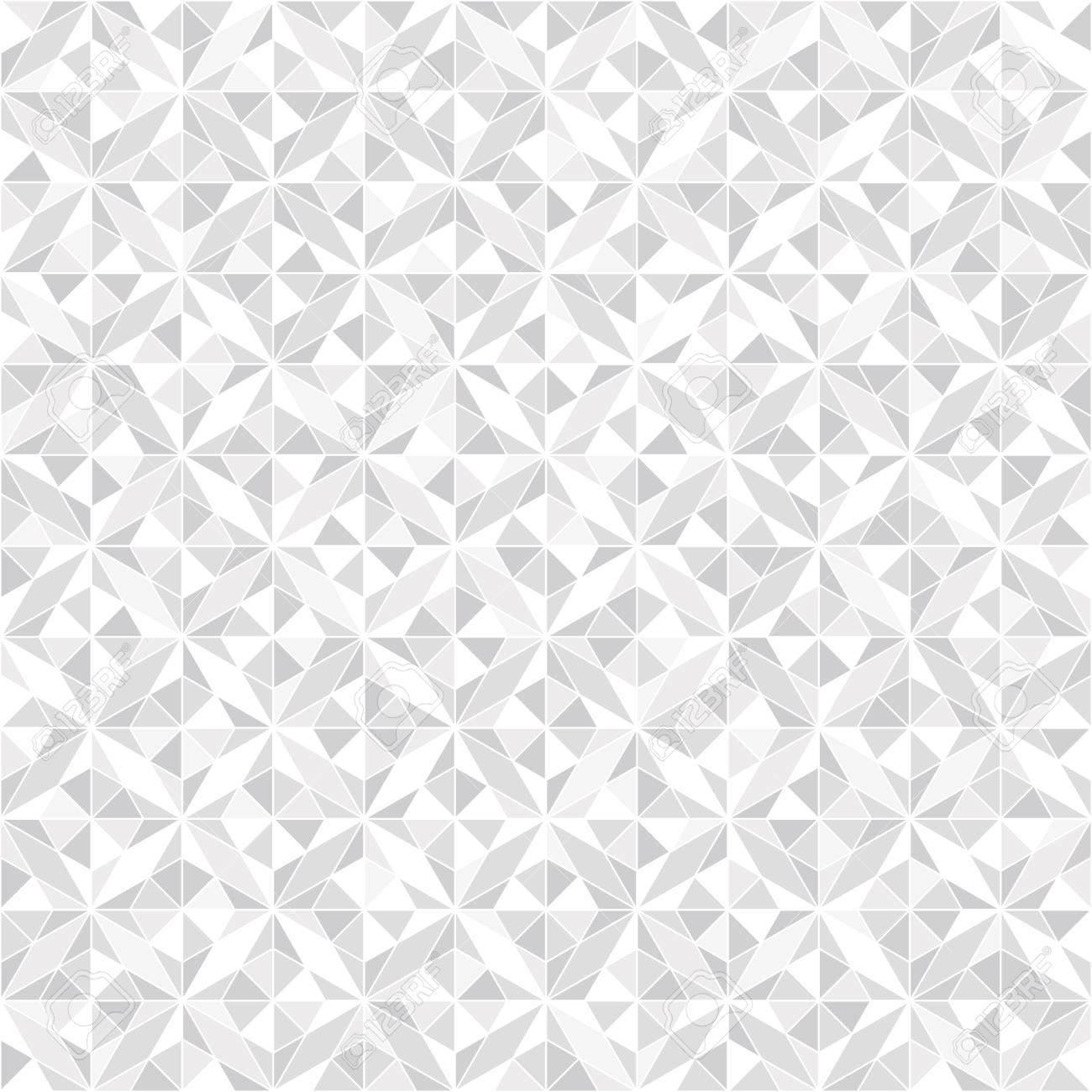 Abstract geometric pattern. A seamless vector background. White and grey ornament. Graphic modern pattern - 95598279