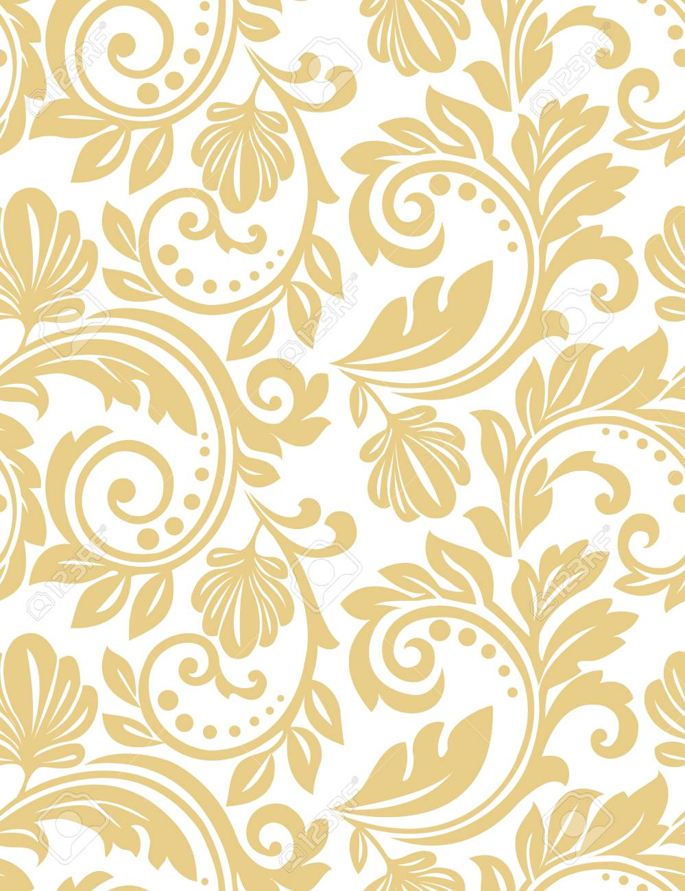 Floral Pattern Wallpaper Baroque Damask Seamless Vector Background Royalty Free Cliparts Vectors And Stock Illustration Image 98013947