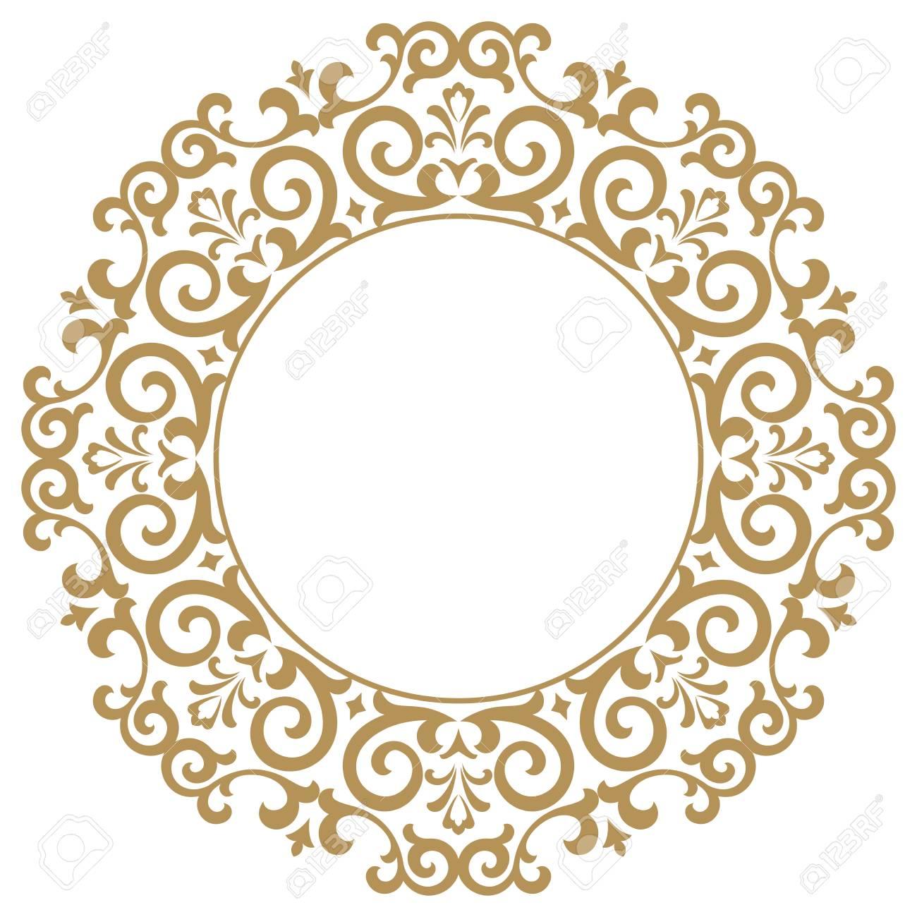 decorative frame elegant vector element for design in eastern rh 123rf com lace border vector png black lace border vector