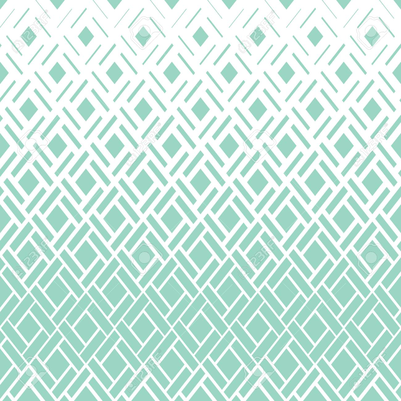 Abstract geometric pattern  Vector background  White and green