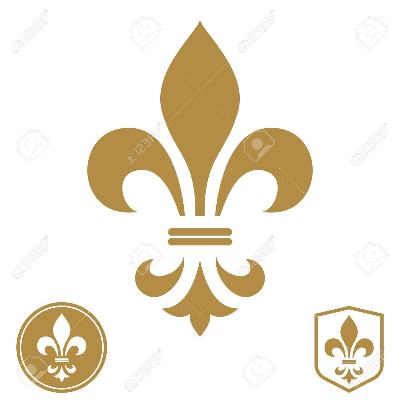 gold and white logo design