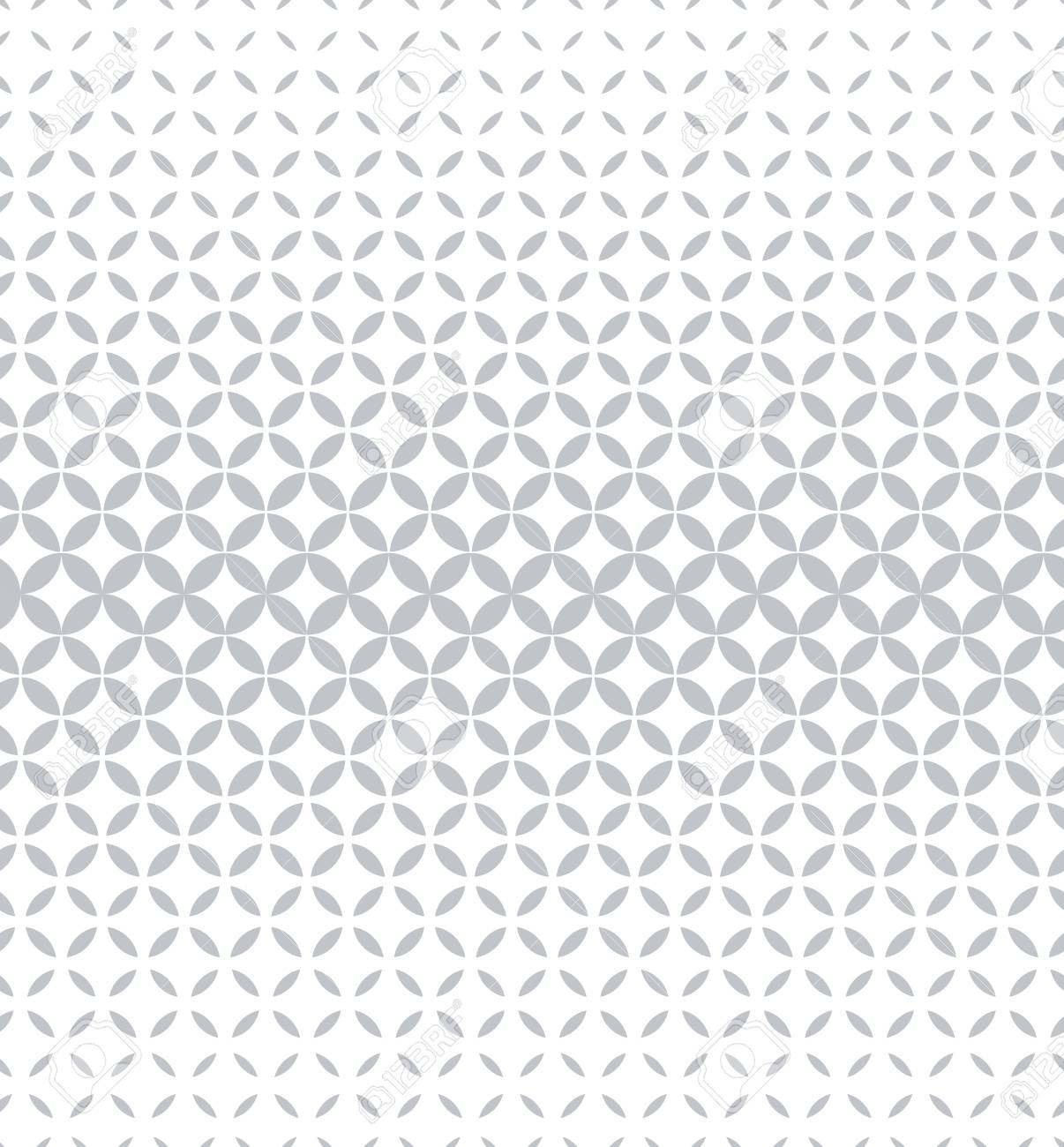 Abstract geometric pattern with circles. A seamless background. White and grey ornament. Graphic modern pattern - 107223611